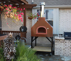 Wood fired brick oven 950 B gable house Bread stone ovens