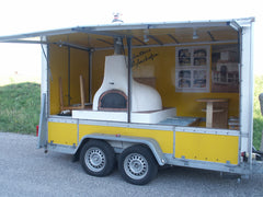 wood fired brick oven bread stone ovens trailer