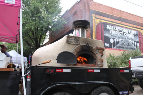 Wood-Fired Oven at the Bastille Day celebration