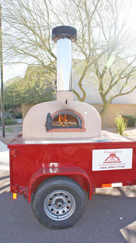 wood fired brick oven on mobile trailer bread stone ovens 950 B pizza business