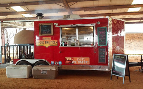 Brick Oven Porch Trailer Vending Pizza