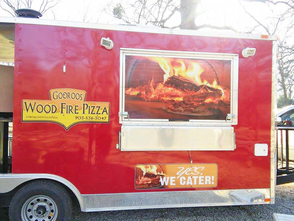 Wood fired brick oven food truck food trailer bread stone ovens