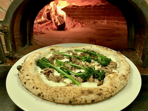 Neapolitan Broccoli Pizza Brick Oven