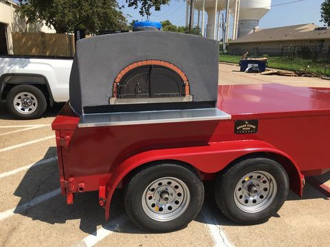 "Tandem Axle Pizza Oven Trailer Texas 1200 L 48"" diamter"