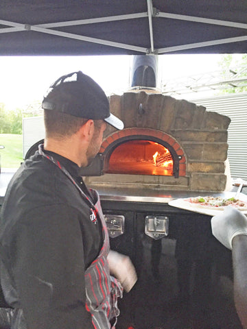 wood fired bricked oven fire it up pizza oven flame Bread Stone Ovens Co.