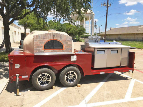 Pizza Oven Trailer Platform