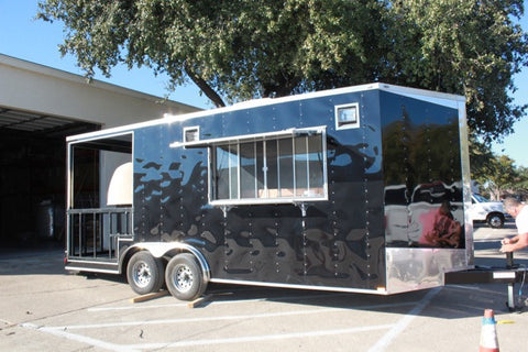 Concession Porch Trailer Pizza Oven