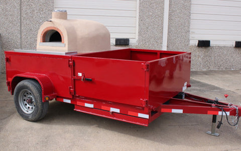 Pizza Oven Tailer Ramp Storage