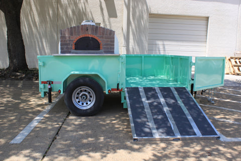 Pizza Oven Trailer Ramp Out