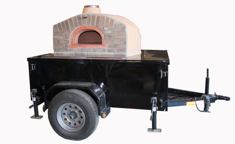 Pizza Oven Black Trailer Napa