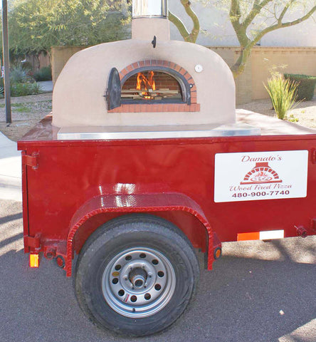 Mobile Wood Fired Pizza Brick Oven Trailer