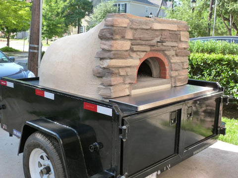 Oliva Wood Fired Pizza Oven Trailer