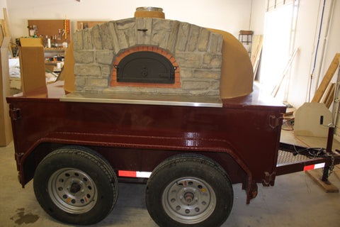 Tandem Axle Pizza Oven Trailer Texas 1500 B Lateral
