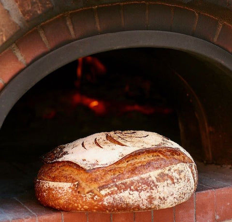 Levain Bread Made in a Wood-Fired Oven