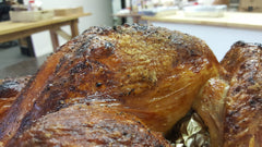 close up of crispy turkey skin