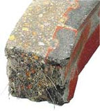 refractory concrete covered brick