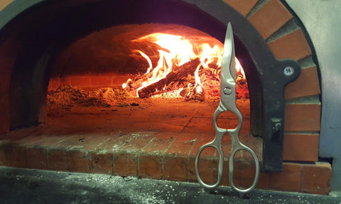 poultry shears and wood fired oven