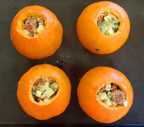 stuffed mini pumpkins