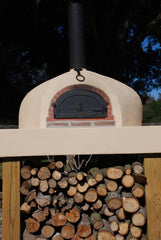 Wood-Fired Oven with Stucco Finish