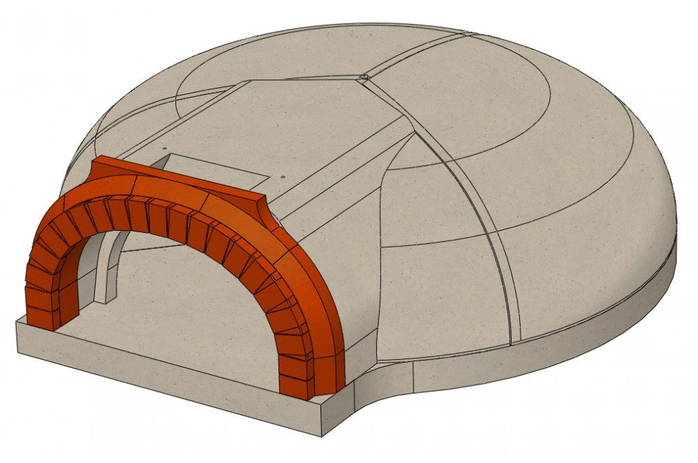 "1030 C 41"" Pizza Oven Kit Drawing"