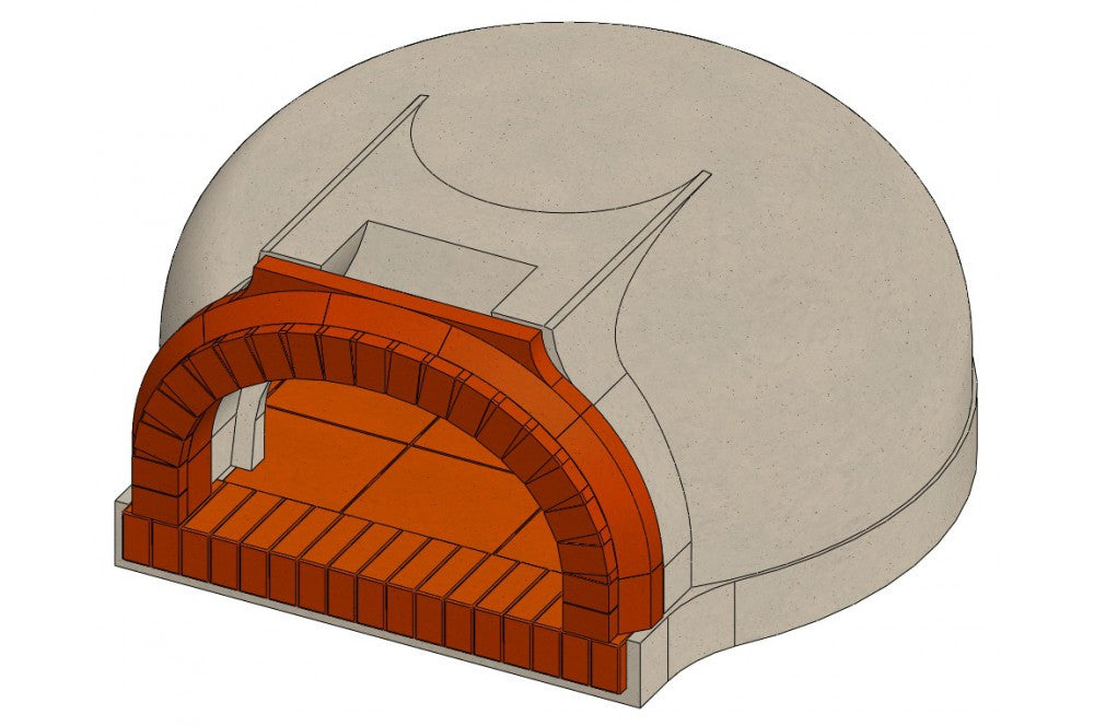 700 B Residential Wood-Fired Brick Oven Drawing
