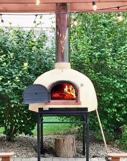800 b wood fired oven with stucco finish - Wood Fired Oven