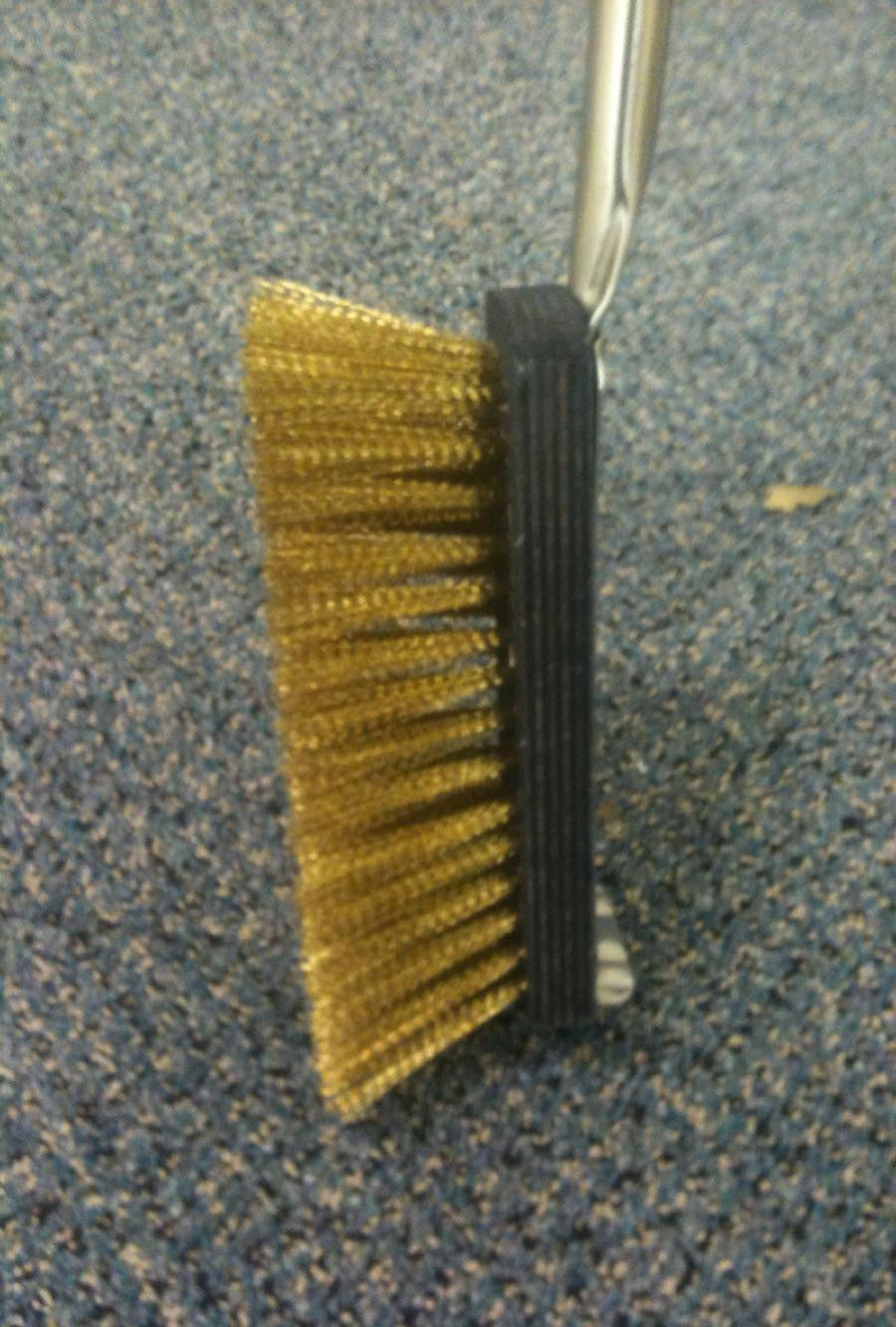 brass fire brush
