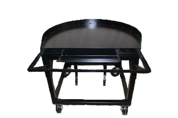 Mobile wood-fired brick oven cart