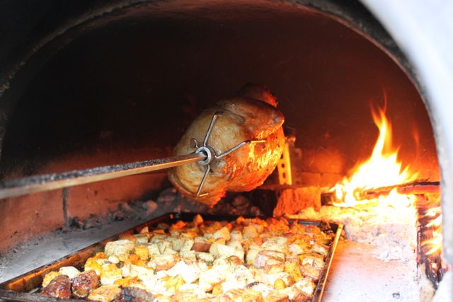 Rotisserie Chicken Wood Fired Oven