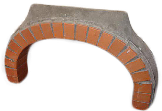 brick arch for wood fired oven
