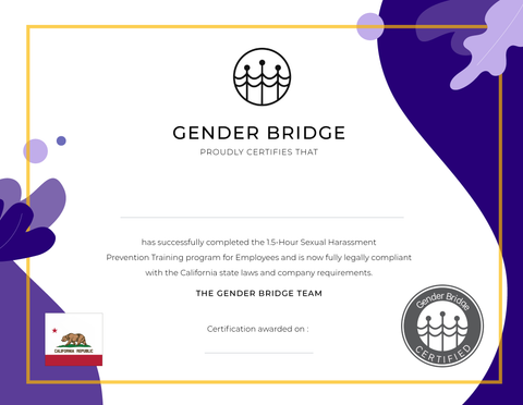 Gender Bridge Certification