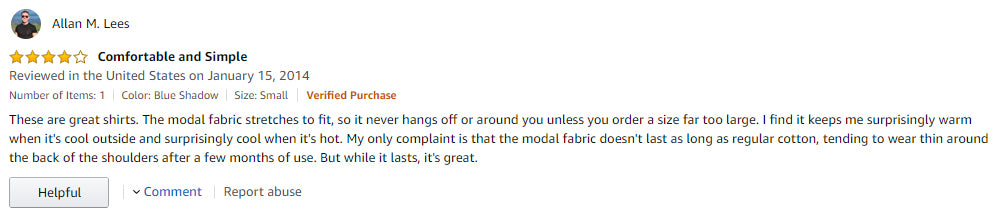 Calvin Klein customer review