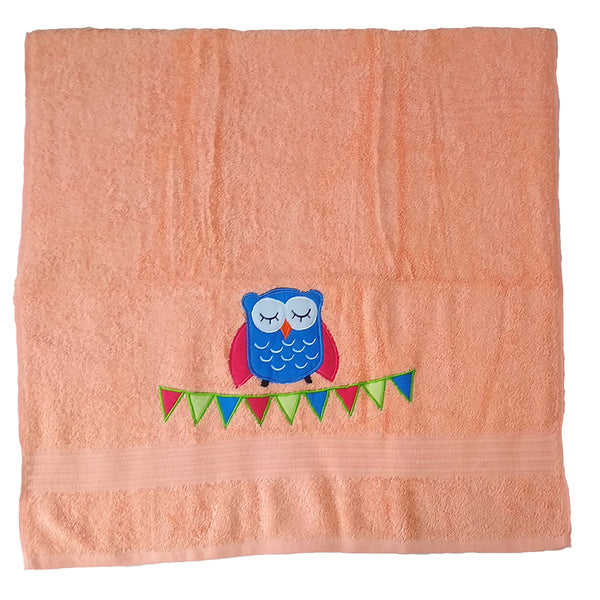 Premium Cotton Towel - The happy owl | Towels & Wrappers