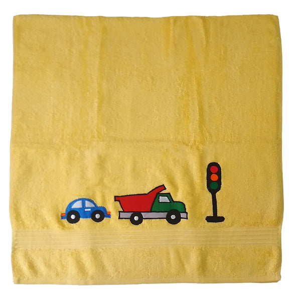 Premium Cotton Towel - Zooming Car | Towels & Wrappers