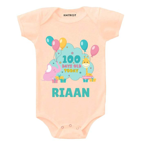 Knitroot 100 Days Infant cloth 0-3 Months Peach