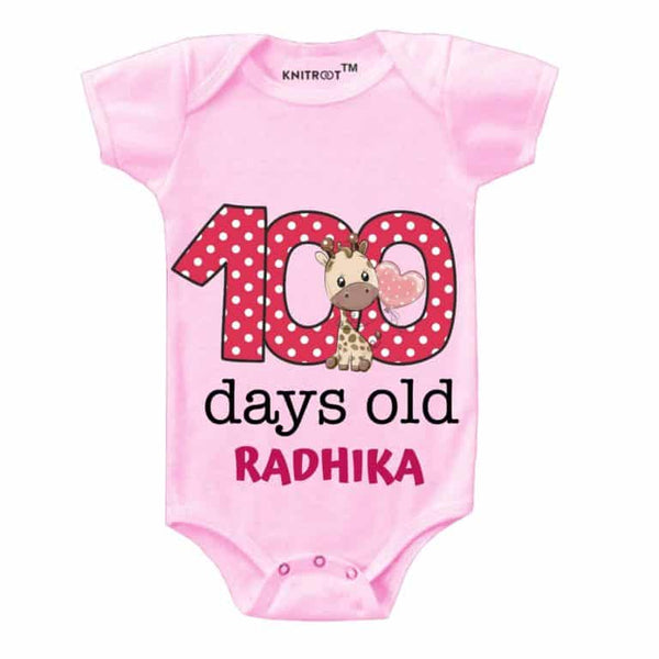 KNitroot 100 Days baby wear 0-3 Months Pink