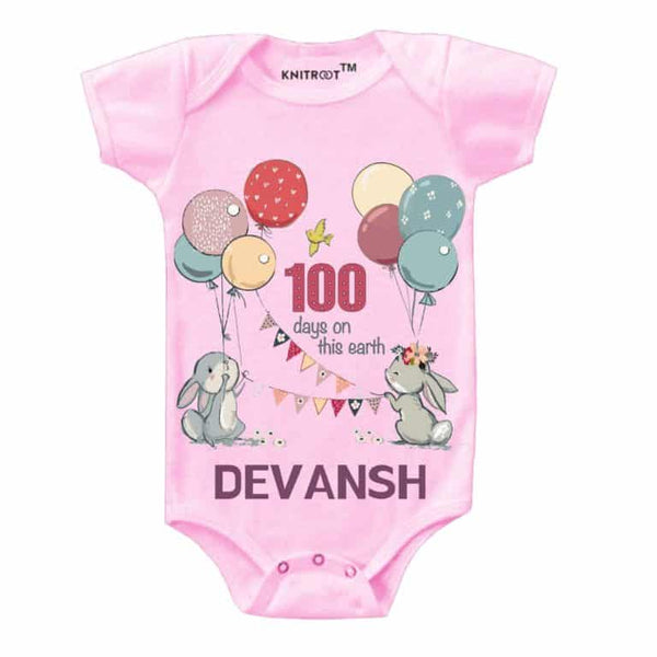 Knitroot 100 days Baby Cloth 0-6 Months Pink
