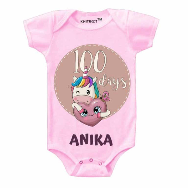 Baby 100 Days Celebration Romper-15 - Personalised Baby Onesie