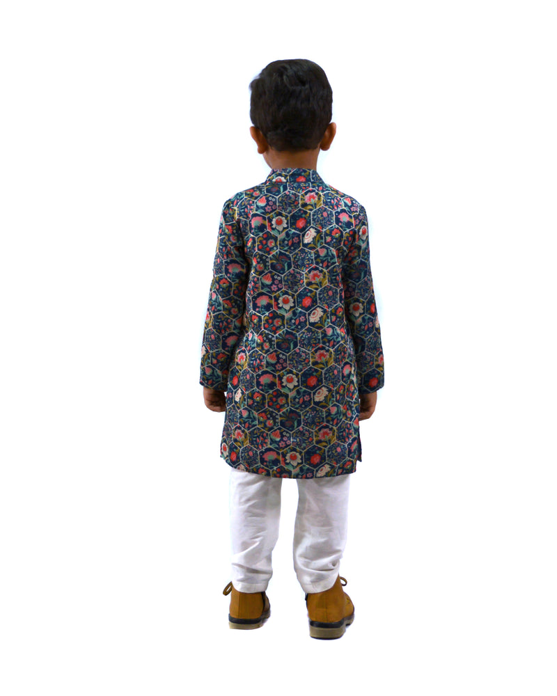 Hexa Print Kurta and Pajama themumsshop