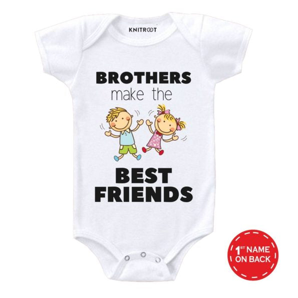 Brothers Make The Best Friends | Personalised Baby Onesie