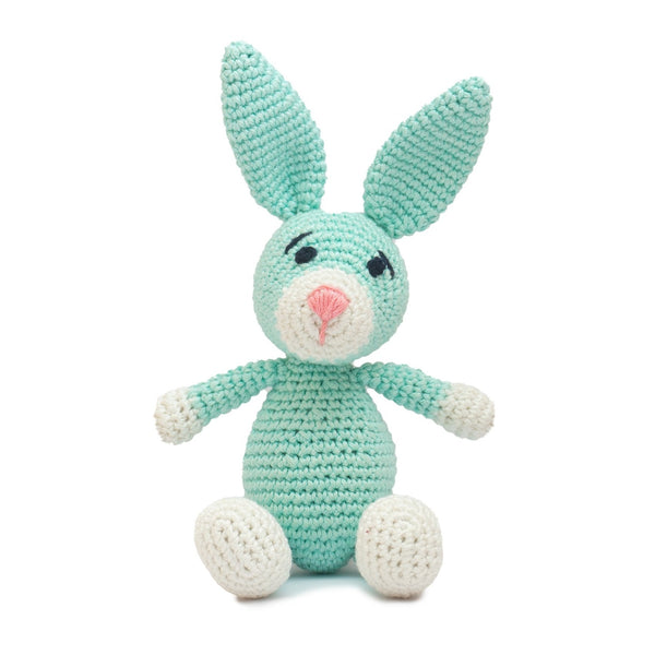 Amigurumi Soft Toy- Bunny (Sea Green & Pink) | Crochet Toys