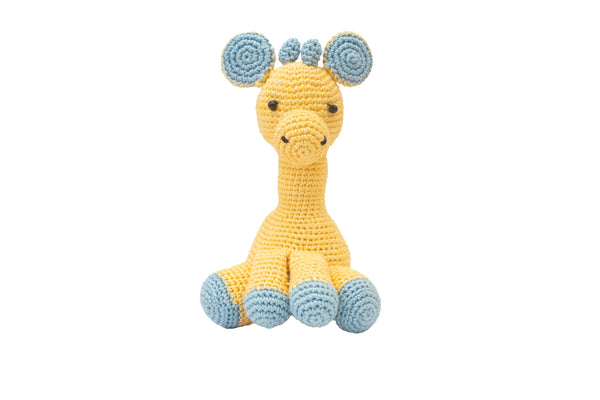 Amigurumi Soft Toy-Giraffe (Yellow & Blue) | Crochet Toys