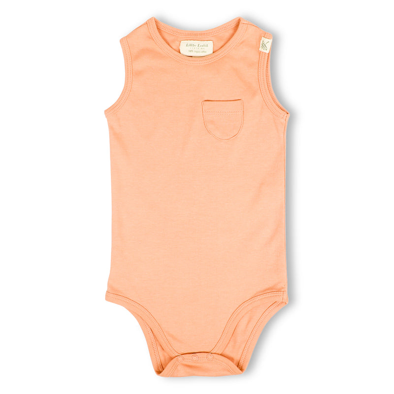 Sleeveless Onesies - Coral Blush-Baby Clothes
