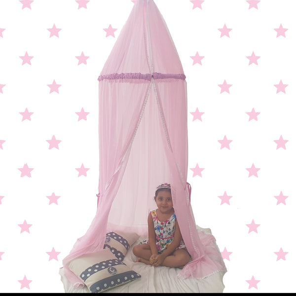 CuddlyCoo Canopy Tent - Pink- Kids Teepee