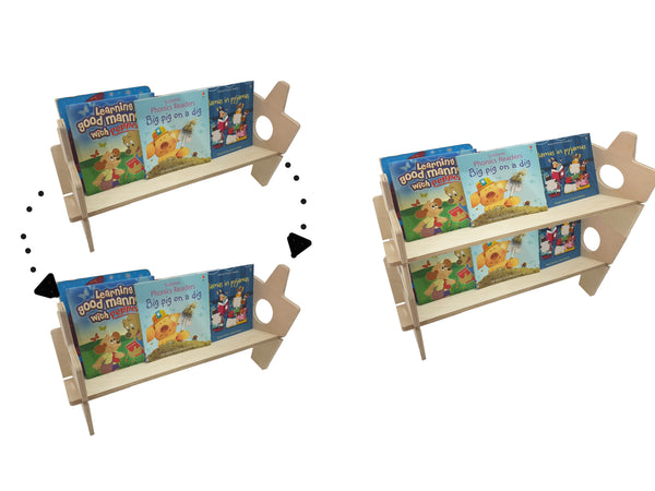 CuddlyCoo Stackable Bookshelf/Book Rack | Furnishings