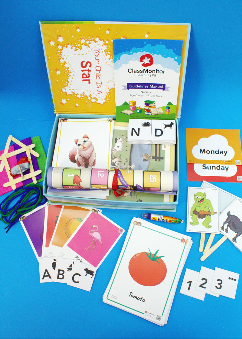 Home Learning Kit - KG1, Kids Activity Kit, Age - 3.5-4.5 Years