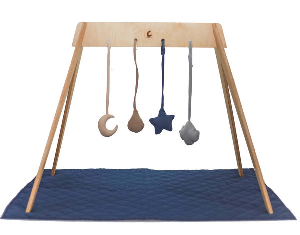 Wooden PlayGym Convertible Baby Tent with playmat | Play Gym