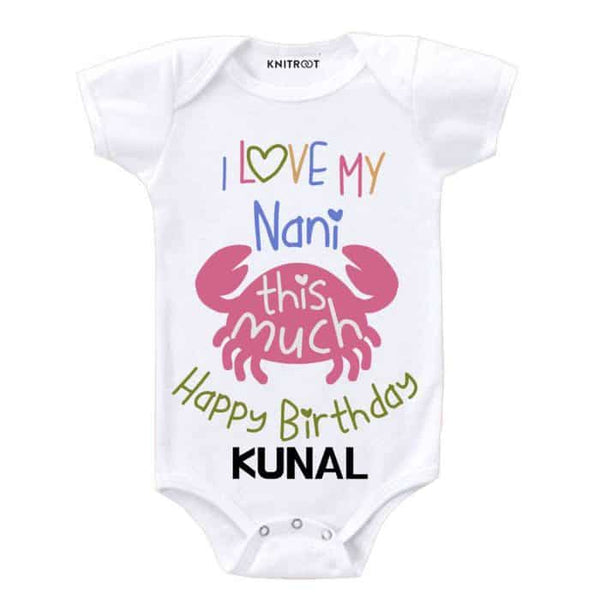 I love you nani kids romper - Personalised Baby Onesie