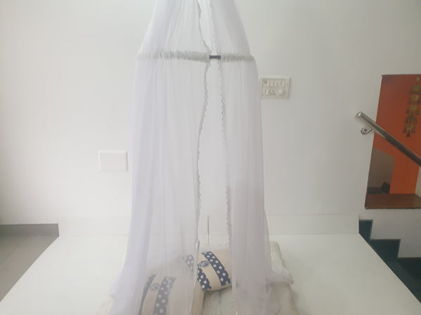 CuddlyCoo Canopy Tent - White -Kids Teepee