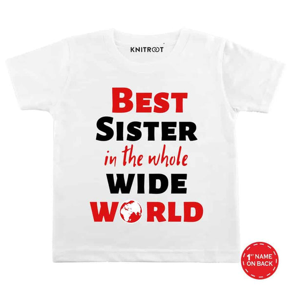 Best Sister B - Personalised Tshirt